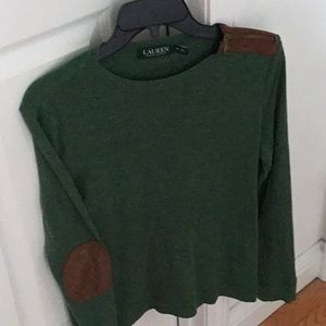 Ralph Lauren forest green top.